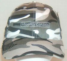 *NWT Mueller Canada Baseball Style Cap Cotton Gray Camo One Size Fits Most