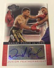 DANIEL PONCE DE LEON firmato TOPPS Co-Signers BOXING CARD Set 2008