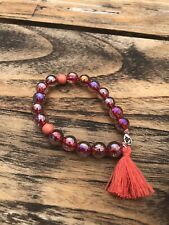 Summer Style Natural Stone Beads Bracelet Women Red and Pink