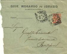 1639-LIGURIA, SAMPIERDARENA, TONDO RIQUADRATO PER BORDIGHERA, GIOV.MORANDO, 1903