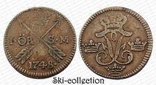 1 Ore 1748 SM. Suede/Sweden. Frederick I°. Cuivre/Copper