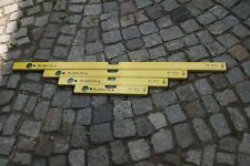 4er SET Wasserwaage WW Delta gelb 120,80,60,40 cm + Bandmass & Bleistift