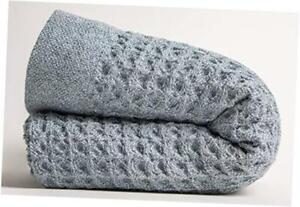 Nutrl Home Waffle Weave Bath Towel - 100% Supima Cotton (67 x Bath Sheet Blue
