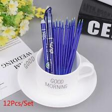 12Pcs/Set Erasable Gel Ink Pens Set with Refill Eraser Stick School Stationery