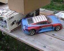 RC race car-buggy,1/10,Nitro RS4 HPI,911 GTi,4WD,os max.no radio,vintage model
