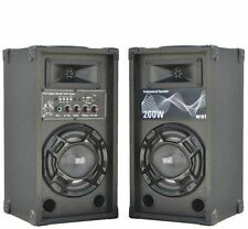 😍 COPPIA CASSE AMPLIFICATE KARAOKE 200W LED + BLUETOOTH + USB DIFFUSORI ATTIVI