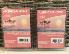 2 Packs PINK ISLAND SUNSET Wax Melts American Home YANKEE CANDLE