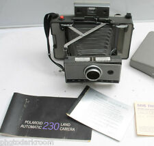 Polaroid 230 Land Camera with Manual Instructions Cold Clip - Good - Vintage F04
