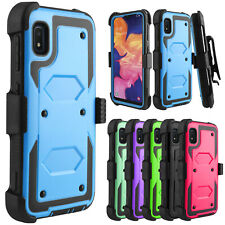 For Samsung Galaxy A10e Phone Case Shockproof TPU Clip Holster Stand Armor Cover