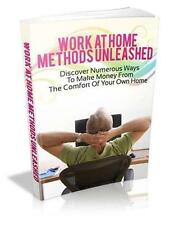 Work At Home Methods Unleashed EBook On CD $5.95 Plus Resale Rights Ships Free