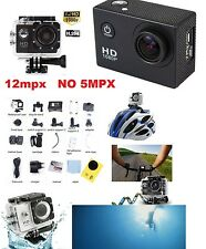"Cam Sport 1.5 "" Color HD 1080p Action Camera Go Videocamera Subacquea 12MEGAPIXE"