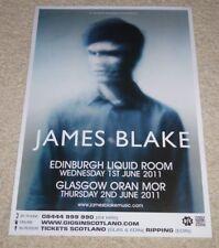 James Blake - CONCERT POSTER - 2011 live music show gig tour poster