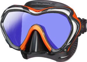 Tusa Paragon S Mask Scuba Diving, FreeDiving, Snorkeling Energy Orange