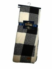 Pendleton Black Plaid Sherpa to Fleece reversible Blanket throw 50 x 70 nwt