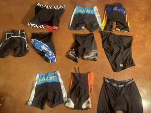 Lot Of 11 Cycling Shorts Men Women Many Sizes