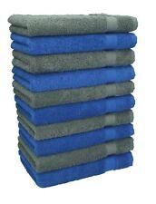 Betz Lot de 10 serviettes débarbouillettes Premium bleu royal & gris anthr