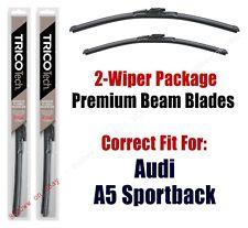 Wipers 2-Pack Premium Beam Wiper Blades fits 2018+ Audi A5 Sportback - 19240/200