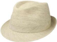 STETSON LINEN TRILBY NATURAL BEIGE FEDORA Large 58.5CM-59CM ITALY