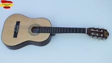 Guitarra clasica medidas: 1/4. 1/2. 3/4 con funda, cursos   y accesorios
