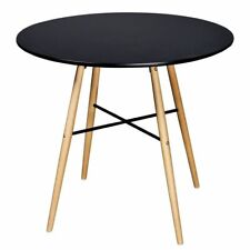 vidaXL Dining Table MDF Round Black Kitchen Living Room Furniture Plant Stand