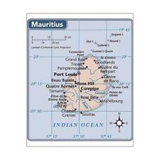 "10""x8"" (25x20cm) Print of Mauritius country map from"