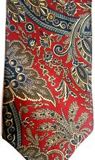 "Christian Dior Men's Silk Tie 58.5"" X 3.75"" Multi-Color Abstract Paisley"