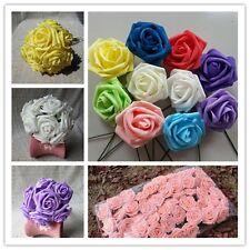 Colourful Foam Rose Artificial Flower Wedding Bride Bouquet Party Decor DIY LG