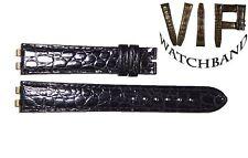 NEW OEM Authentic Omega strap 17 mm genuine Alligator leather black