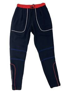TOMMY HILFIGER X GIGI HADID Black Piped Tapered Sweatpants UK Size 6 Sports Luxe