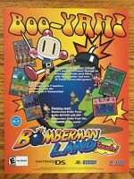 Bomberman Land: Touch Nintendo DS 2006 Vintage Game Poster Ad Print Art Rare HTF