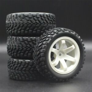 Rc Car Wheels and Tires Set Fits 1/18 Latrax Teton