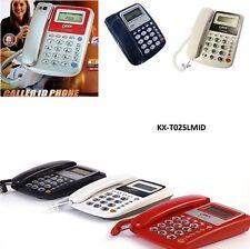 Telefono fisso da casa con tasti grandi display e vivavoce anziani -KX-T025LMID-