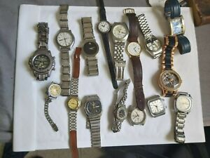 LOT OF 16 vintage watches untested