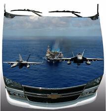 2 U.S. Navy Hornet Jets Hood Wrap Vinyl Graphic Decal Sticker Wrap Car or Truck