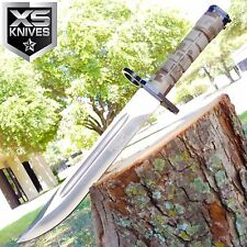 """13"""" MILITARY SURVIVAL Fixed Blade BAYONET Hunting Knife RAMBO TACTICAL BOWIE"""