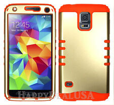 Light GOLD Armor Shock Proof Hybrid Soft Hard Cover Case for Samsung LG Phone