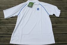 Mens Taylor ACE  Bowls Polo Shirt, Size SMALL XL   MENS white blue bowling