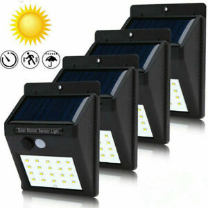 30-LEDs Solar Power Light PIR Motion Sensor Wall Outdoor Garden Lamp Waterproof