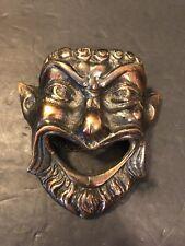 Vintage Greek Comedy & Tragedy Comedy Mask Faun Coppertone Metal Mid Century
