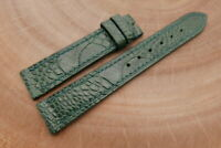 18mm/16mm Green Genuine OSTRICH Skin Leather Watch Strap Band Hanmade