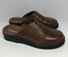 """Clarks Collection Soft Cushion Women's Brown Wedge Mules """"24610"""" Size 8 M"""