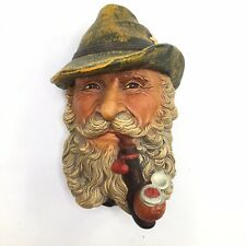 Bossons Tyrolean Chalkware Head Pipe Hat