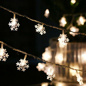 2m 20LED Snowflake Lamp Festival Indoor & Outdoor Decor Neon Atmosphere Lights