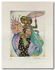 Summertime by Keith Mallett Signed and Numbered Hand Colored Etching