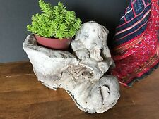 Old Cast Stone Shoe Planter …beautiful accent piece