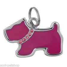 NEW DOG COLLAR ID TAG DOG SHAPED RHINESTONE 22761