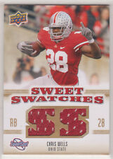 2010 SWEET SPOT SWEET SWATCHES CHRIS WELLS #SSW14***OHIO STATE***