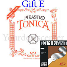 Tonica Violin String Set Steel E Loop/ Gift Dominant E