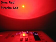 100pcs, 5mm Red Piranha Super Flux LED Dome Wide Angle Super Bright Leds 4-pin