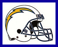 LOS ANGELES LA CHARGERS FOOTBALL NFL HELMET DECAL STICKER TEAM LOGO~BOGO 25% OFF